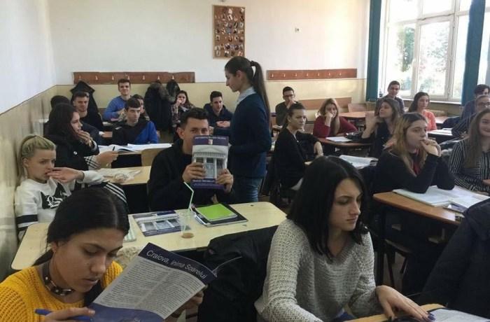 Caravana învățământului oltean – 2018 –, în liceele din județele Dolj, Gorj, Olt, Vâlcea și Mehedinți.
