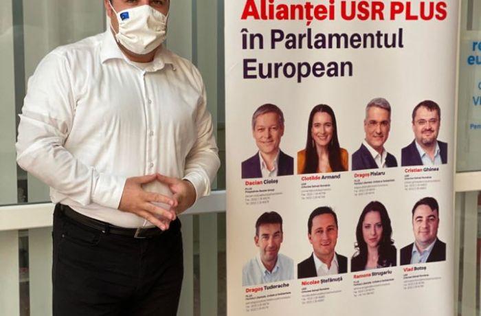 Mehedintiul, pe agenda USR PLUS. Vlad Botos, cabinet de europarlamentar la Drobeta Turnu Severin