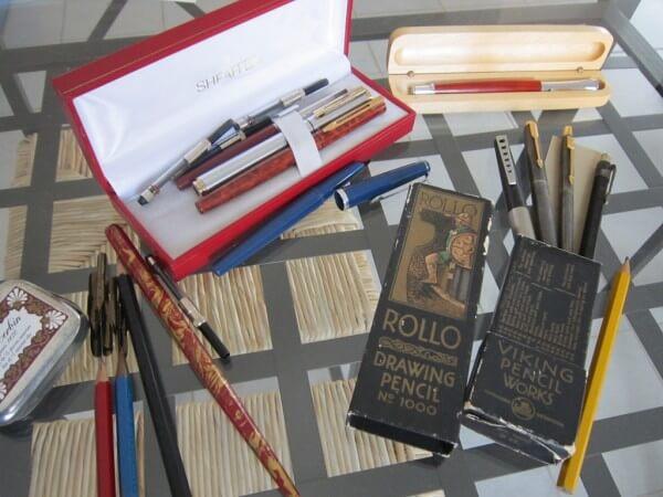 mes anciens stylos et nouveaux vintages