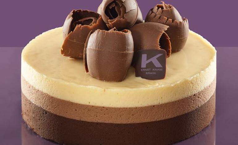 Torta Mousse al tre cioccolati di Ernst Knam