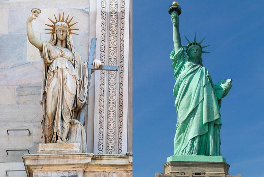 Estátua da Liberdade em Milão