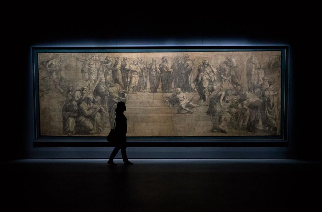 Pinacoteca Ambrosiana. Esboço da Escola de Atenas de Rafael