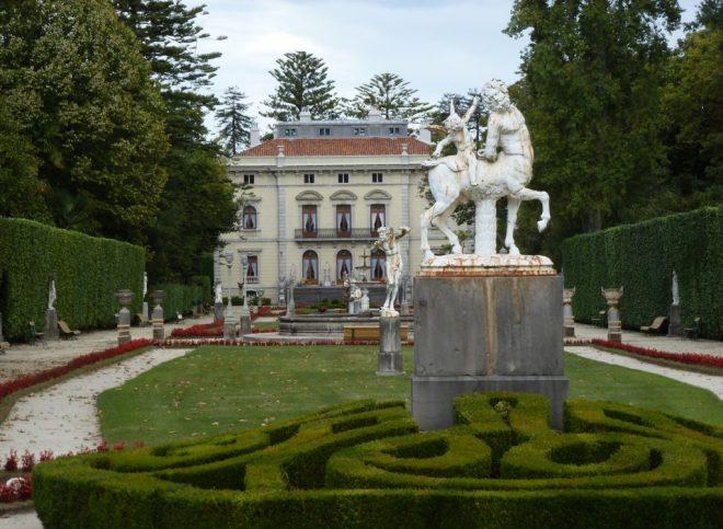 Fachada del palacete de la Quinta de la Fundación.