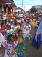 Desfile escolar de preescolar