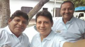 De izquierda a derecha: Saul Martinez (Periodista), Ricardo Delgado (Periodista), Francisco Centeno (Informático, Multimedia)
