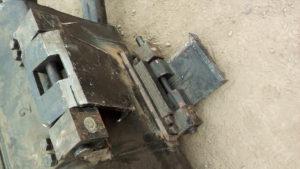 Muro pantalla junta trapezoidal. Excavación, maquinaria, guías, cuchara, junta, mandíbula, procedimiento