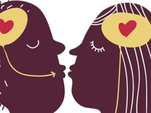 Cariaturas del cerebro y el amor