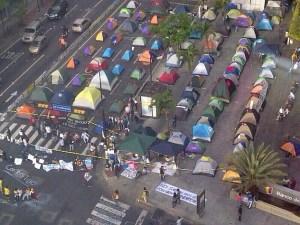 Foto aérea de campamento Chacao