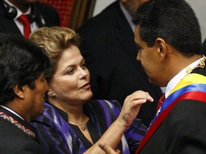 Dilma Rouseff y Nicolás Maduro