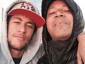 Neymar con su padre