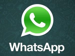 Logo whatsapp en pantalla de smart view
