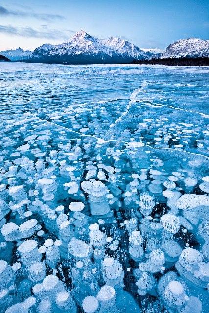 burbujas congeladas