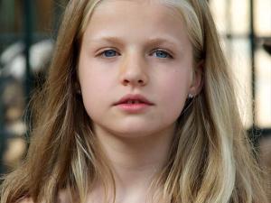 Close up princesa Leonor con 8 años