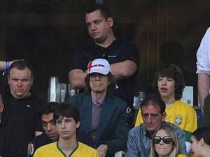 Mundial: Mick Jagger apoya Brasil