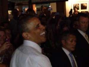 Barack Obama: Sonriendo en Colorado