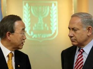 Ban Ki Moon y Netanyahu miándose a la cara