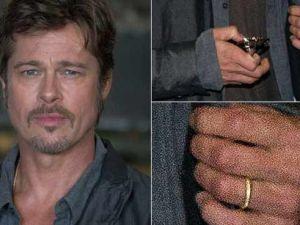 Brad Pitt y su anillo de casado