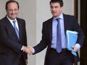 Francoise Hollande y Manuel Valls