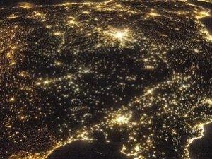 contaminación lumínica en Península Ibérica