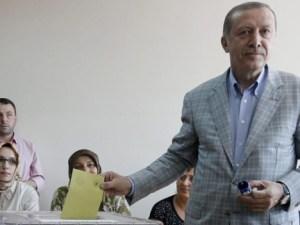 Erdogan después de votar