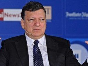 Presidente de la Unión Europea Durao Barroso rueda de prensa