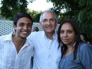Lorent Saleh con Antonio Ledezma