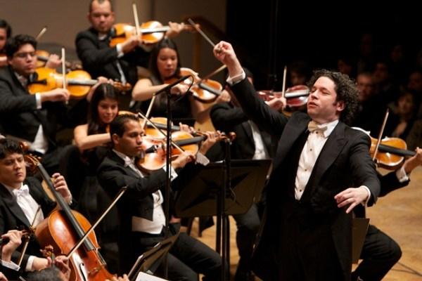 Un Dudamel inspirado y enfocado a más no poder en ofrecer una gran interpretación de Wagner. Foto FundaMusical Bolívar