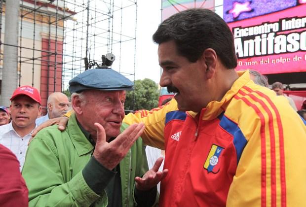 Galeano con Maduro