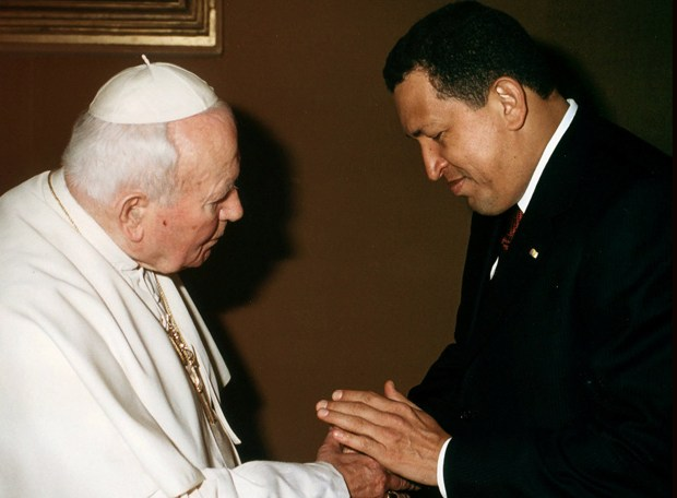 Hugo Chávez y Juan Pablo II segunda visita