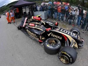 Lotus culpa a Maldonado de su retirada en el GP de Bélgica