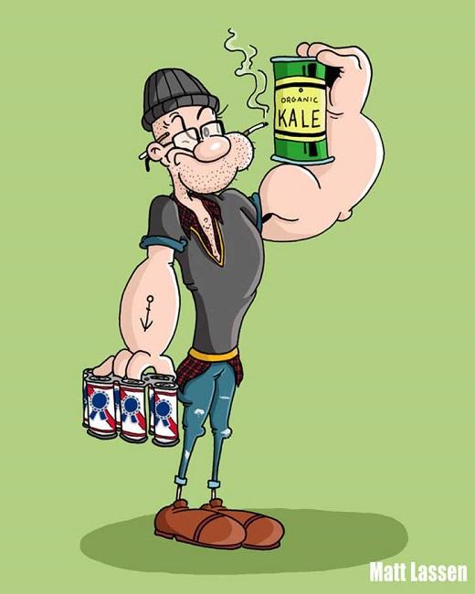 Popeye-Hipster
