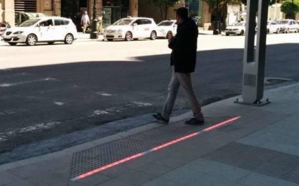 semáforos en el suelo-