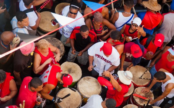 El tambor es el instrumento principal de la fiesta