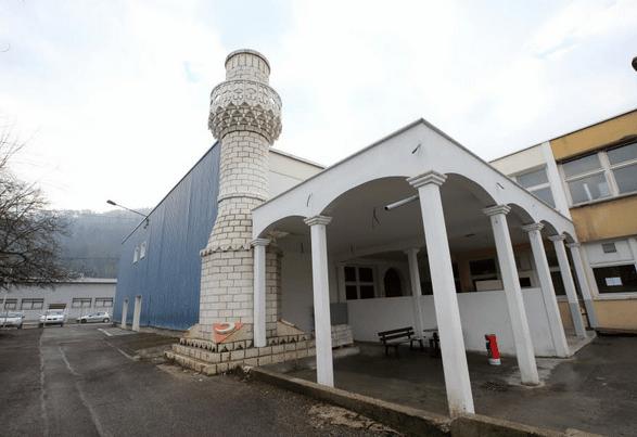 Minaret de la mosquée turque d'Annecy