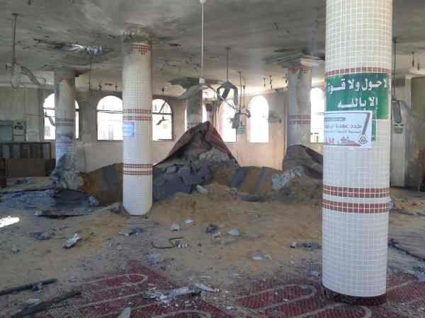 Mosquée de Deir Al Balah visée par un raid