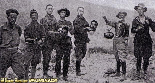 Des rifains décapités par les espagnols