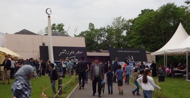 Portes ouvertes à la grande mosquée de Belfort, exposition sur le prophète Mohammad