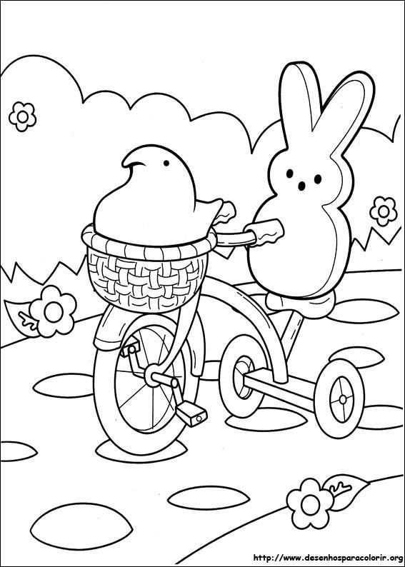 marshmallow peeps para colorir