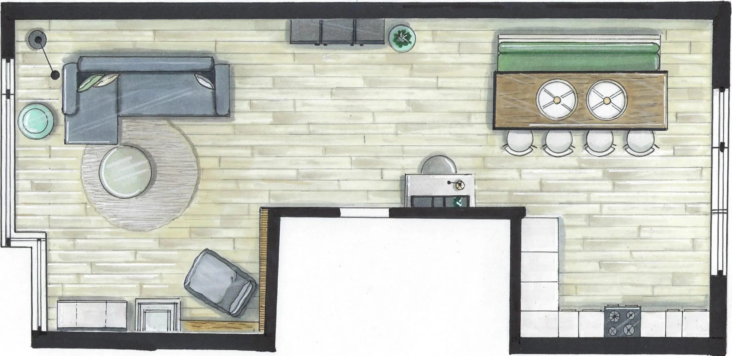 Interieurschets Plattegrond