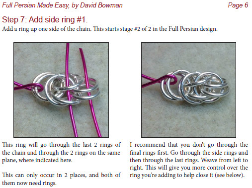 Full Persian Chainmaille Jewelry Tutorial Sample