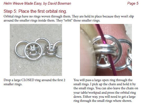 Helm Weave Chainmaille Jewelry Tutorial Sample