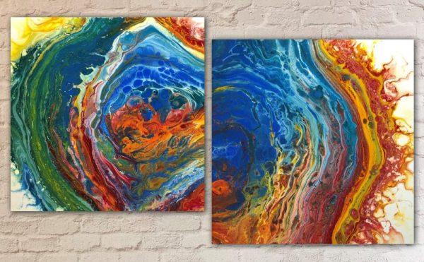 Desert Hippie Arts Acrylic Pour Painting