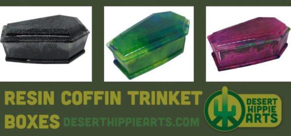 Resin Coffin Trinket Boxes Desert Hippie Arts 2