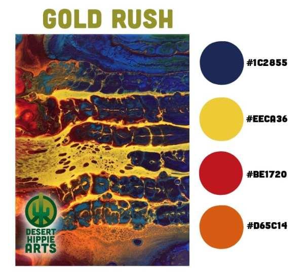 Gold Rush Color Scheme Desert Hippie Arts