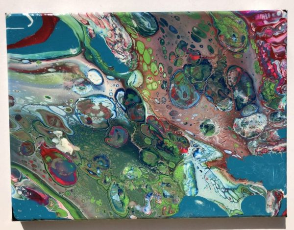 """Algae Water"" acrylic pour painting"