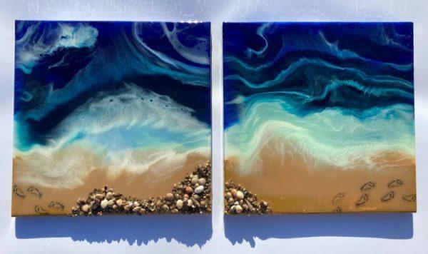 resin art Life's a Beach