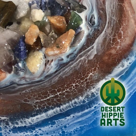 Desert Hippie Arts Rocky Waters Resin Art 4