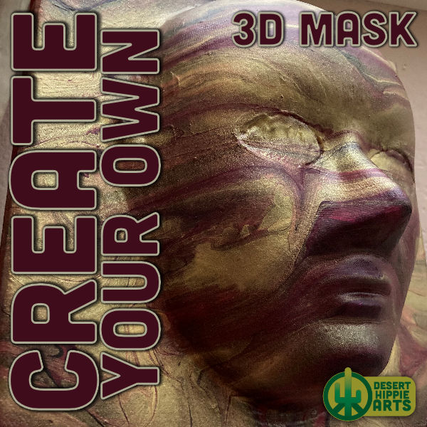 Create your own 3D MASK Desert Hippie Arts 1