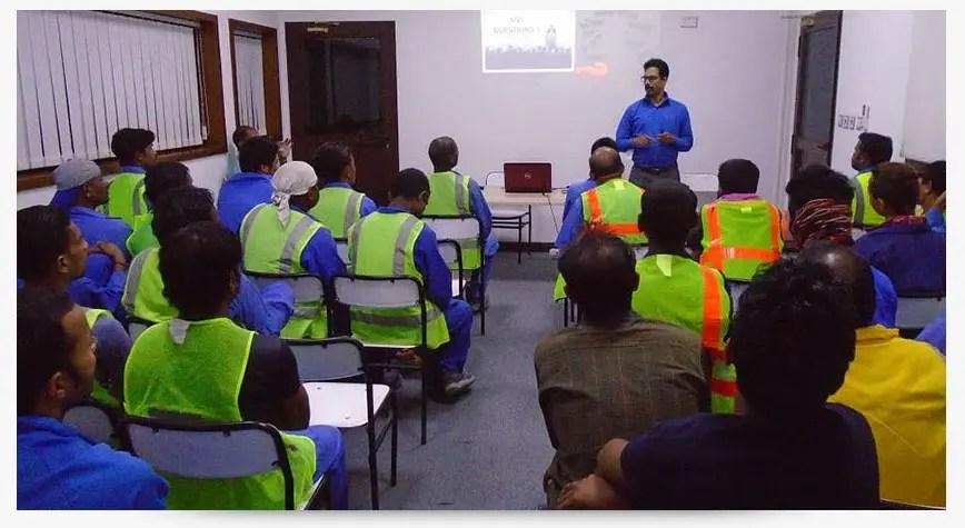 غرفة تدريب السلامة