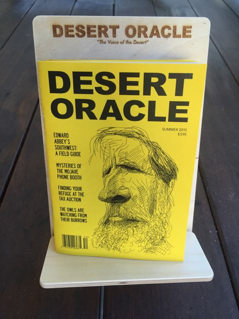 Desert Oracle, summer 2015, 'Edward Abbey and the Southwest,' illustraion by Mike Caplanis
